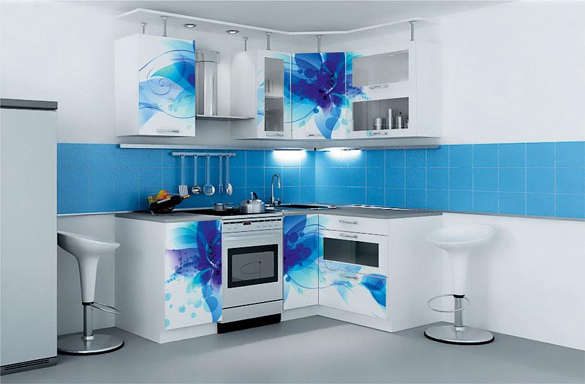 множество угловые кухни с фотопечатью в москве проект ямал